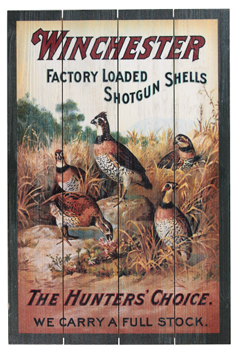 Winchester Quail Barnwood Sign