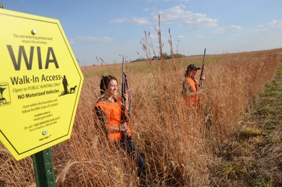 Not just for the boys: young women are more frequent participants at Pheasants Forever youth events.