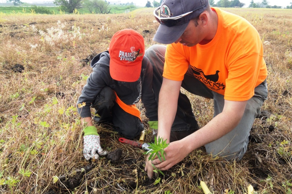 Pheasants Forever chapters host community events to educate youth and their families about the value of pollinators to humans and pheasants through interactive upland habitat projects.