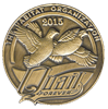QF Limited Edition 2015 Pin in Antique Brass