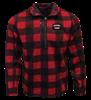 PF 1/4 Zip Sweater Fleece - Red/Black Plaid