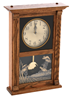 Oak Mantle Clock w/Quail Etching