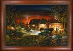 Framed Canvas - Morning Warm Up by Terry Redlin