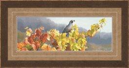 Framed -Vineyard Quail by Susan Boudet