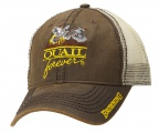 QF Browning Wax Mesh Back Trucker Hat-Brown