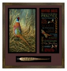 Framed PF Hunting Rules by Rosemary Millette