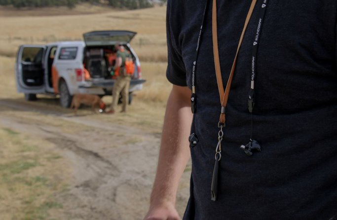 SoundGear units come with a comfortable lanyard so you can keep track of your investment.