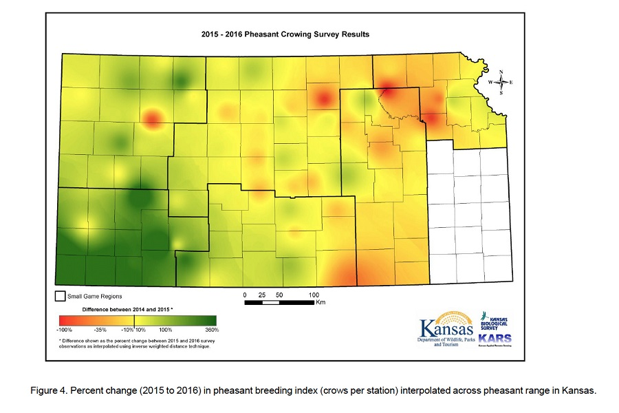 Kansas Pheasant Crowing Survey 2016