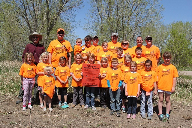 Community based upland habitat projects center on youth, showcasing upland habitat as the nexus between birds – pheasants and quail – and the bees.