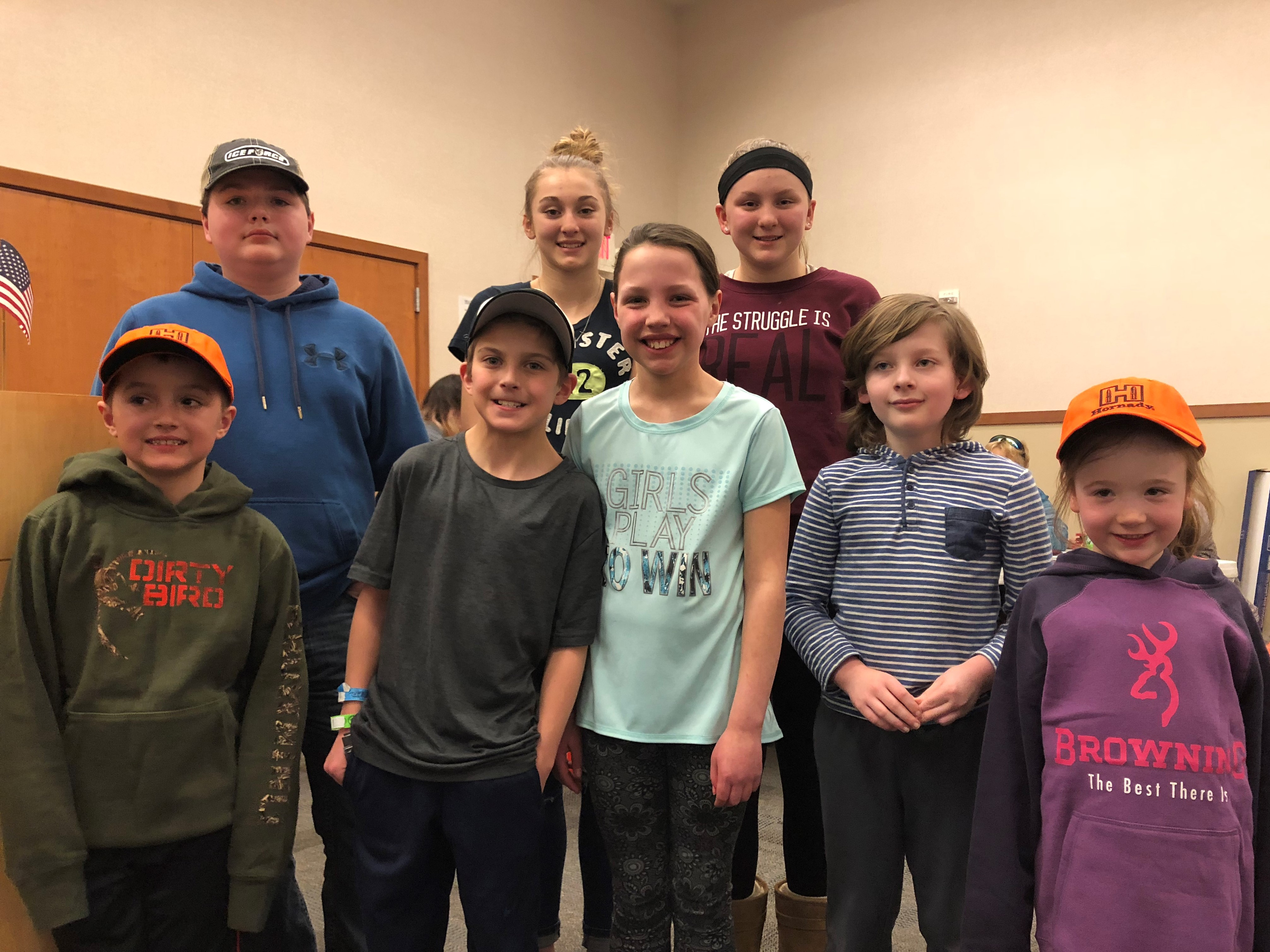 Lifetime small game hunting license winners included Broden Twardowski, Kaiden Zietlow, Lachlan Caputo, Lilly Wewers, Bella Wille, Teagan Wille, Cora Hinsch and Logan Banghart.