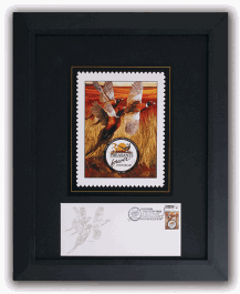 Framed 30th Stamp Print & Envelope