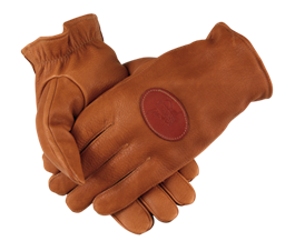 PF Deerskin Shooting Gloves - Lined