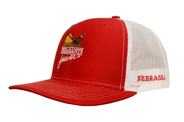 PF Nebraska Red/White Meshback Hat