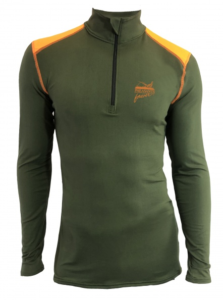PF WSI 1/4 Zip Pullover - Olive/Blaze