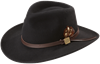 Crushable Felt Outback Hat - Black