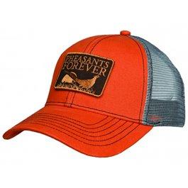 PF Patch Logo Hat-Orange/Gray-Meshback