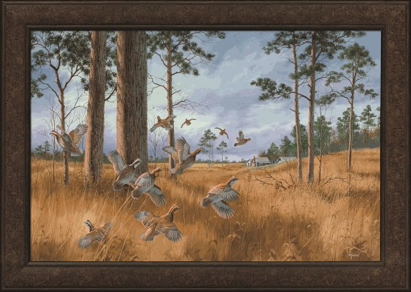 Framed Giclee Canvas-Busted Covey Maass