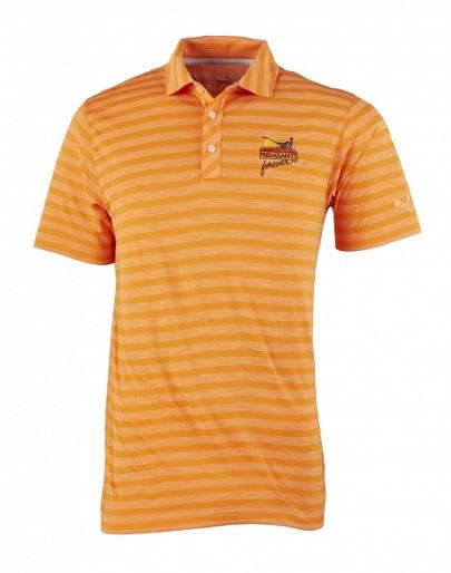 Puma Golf Shirt-Mixed Stripe Orange