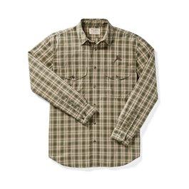 PF Filson Feather Cloth Shirt - Olive/Khaki Plaid