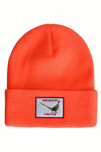 "PF 12"" Acrylic Cuffed Beanie-Orange                                   NEW"
