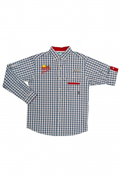 PF Columbia Sharptail Shirt - Beet Gingham